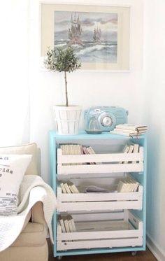 Fruit box furniture. wooden crate. crate. fruit box. wooden box. wood. deco. decoration. storage. industrial. wedding. home.  table. spain. made in spain. madrid. handmade. www.enkaja.es , enkajashop@gmail.com