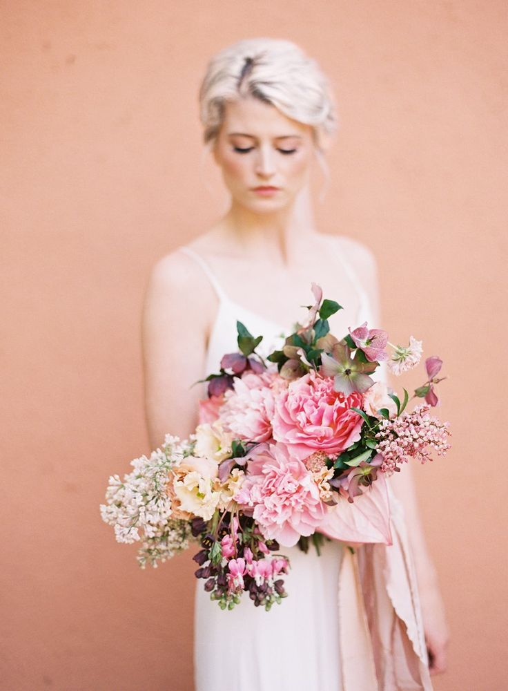 Organic Pink Bridal Bouquet