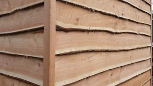 Waney Edge Larch Cladding, rustic, natural, feather
