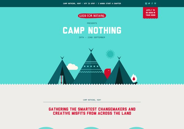 http://campnothing.goodfornothing.com via @url2pin