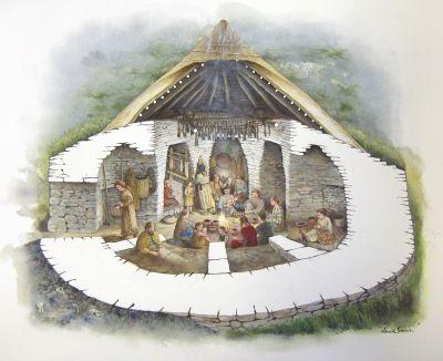 artists reconstruction of the wheelhouse at allt easdail