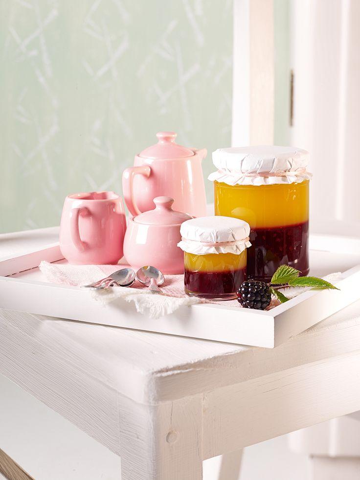 Brombeerkonfitüre mit Mangopüree und Extra Gelierzucker