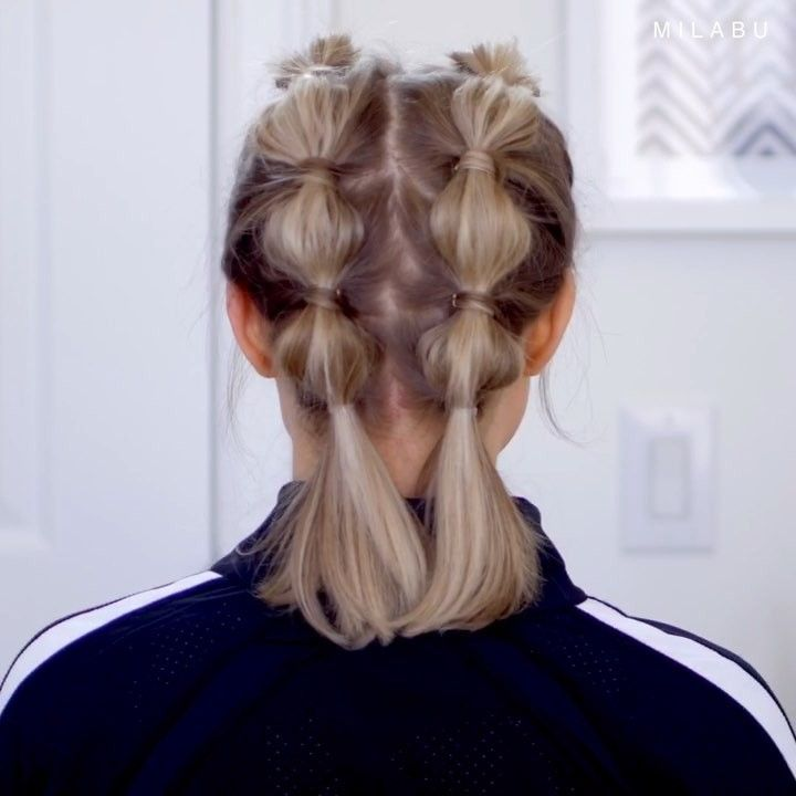 Video Milabu Hairstyles On Instagram Super Cute Easy Hairstyle For The Gym Workout Faux Boxer Bubble Sports Hairstyles Gym Hairstyles Easy Hairstyles