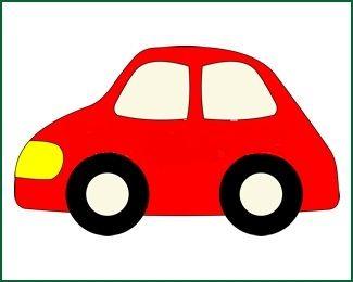 Vasalható ovisjel autó (4x4cm)