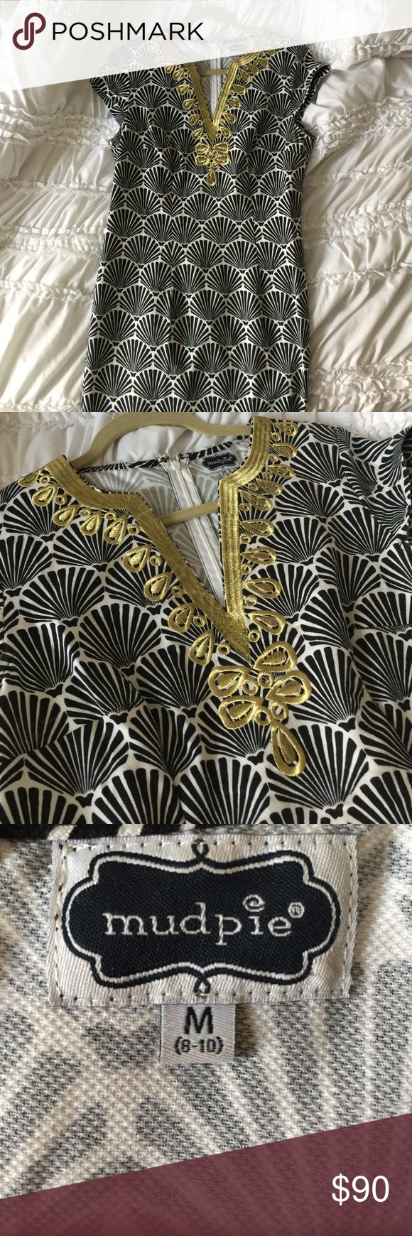 Barely worn Mud pie black and gold dress Mud Pie Dresses High Low