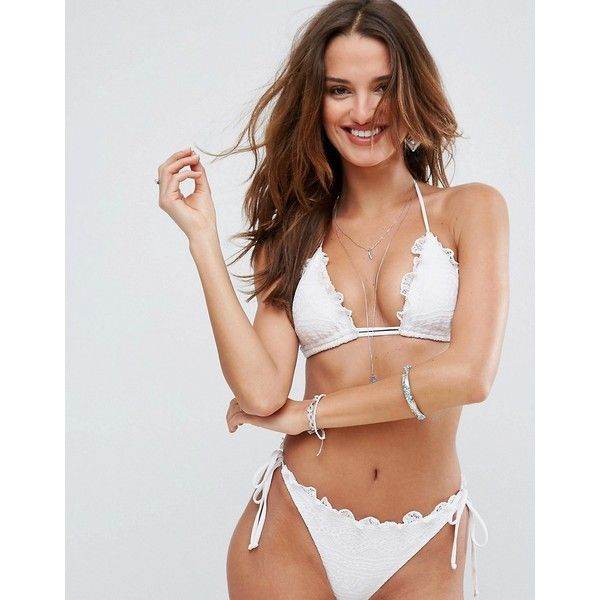 White Triangle Bikini Top 58
