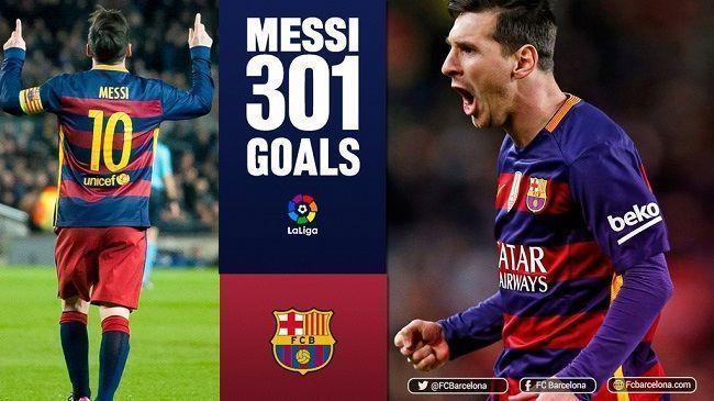 Kolejny rekord piłkarza FC Barcelony • Lionel Messi strzelił ponad 300 goli w Liga BBVA • Najlepszy strzelec w historii La Liga >> #messi #lionelmessi #barca #fcbarcelona #barcelona #laliga #ligabbva #football #soccer #sports #pilkanozna