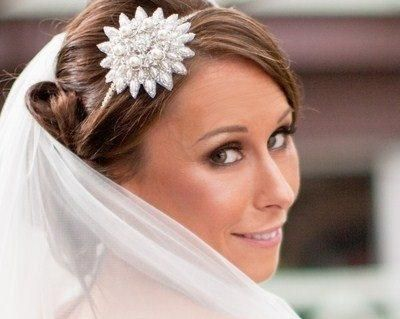 Wedding Hair Bands - Vintage Style Embellished Appliquè Flower And Pearl Headband, Ria