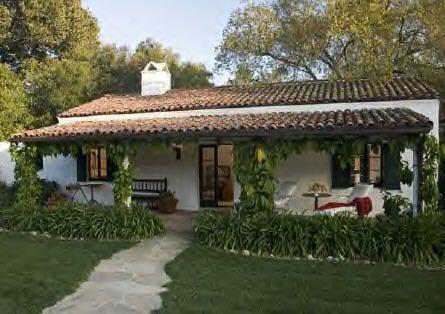 Originally the Oglivy house. Currently the Eric Schmidt (Google CEO) house. Kim Kardashian wedding venue. Previously owned by Ellen DeGeneres. Ashley Rd., Montecito, CA. George Washington Smith. 1926.
