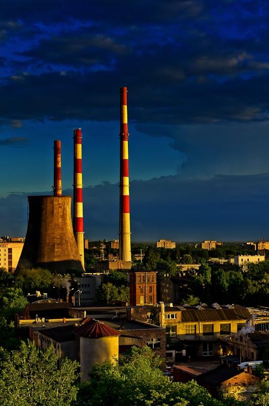 Panorama Łodzi na elektrownie EC1 #Lodz #panorama #view #ec1 #elektrownia