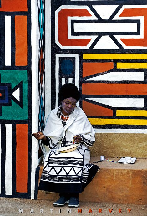 Africa | Xhosa woman in traditional dress Lesedi Cultural Village near Johannesburg South Africa | ©Martin Harvey/World Pictures