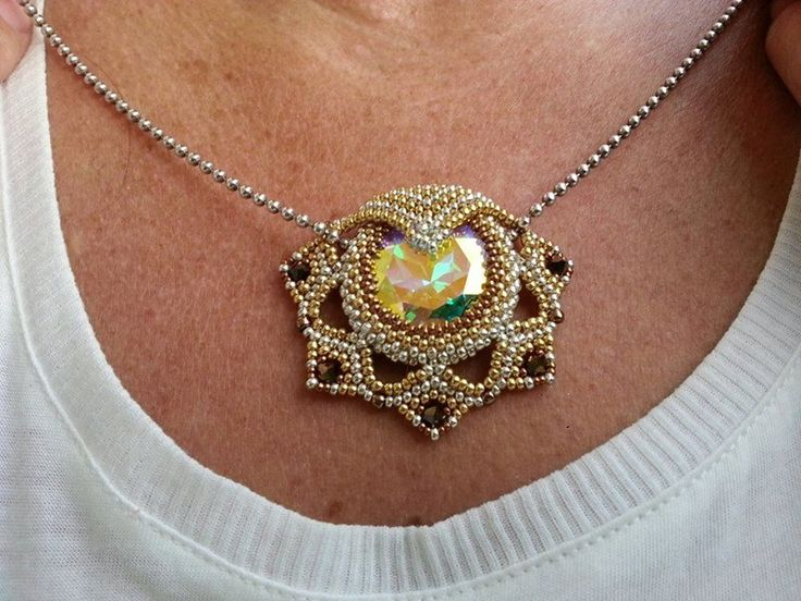 235 best bead pendants rivoli images on pinterest bead leia pendant beaded by heike schwelm thank you for sharing aloadofball Gallery