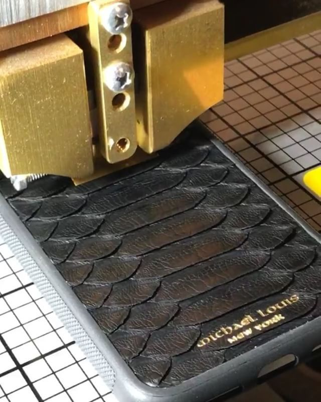 Personalizing the @michael_louis_ Black Python iPhone X Case with FFA initials in gold. Personalize your own at - www.MichaelLouis.com via LUXURY LIFESTYLE MAGAZINE OFFICIAL INSTAGRAM - Luxury  Lifestyle  Culture  Travel  Tech  Gadgets  Jewelry  Cars  Gaming  Entertainment  Fitness