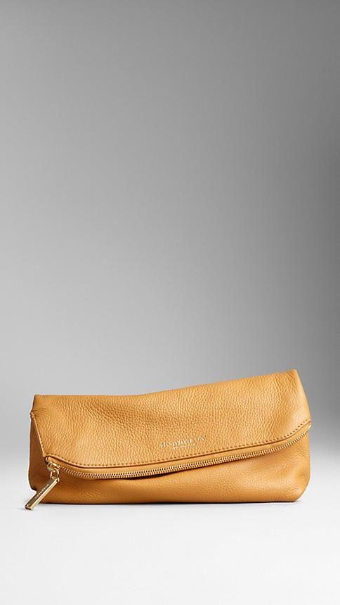 Складной клатч средних размеров из оленьей кожи | Burberry