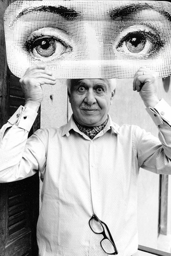 | P | Milanese Piero Fornasetti (1913-1988). Famous for printing on many of his creations the face of Lina Cavalieri, an Italian opera soprano known for her great beauty.