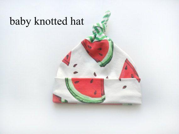 Watermelon ORGANIC cotton Clothing Set : Hat Pants newborn