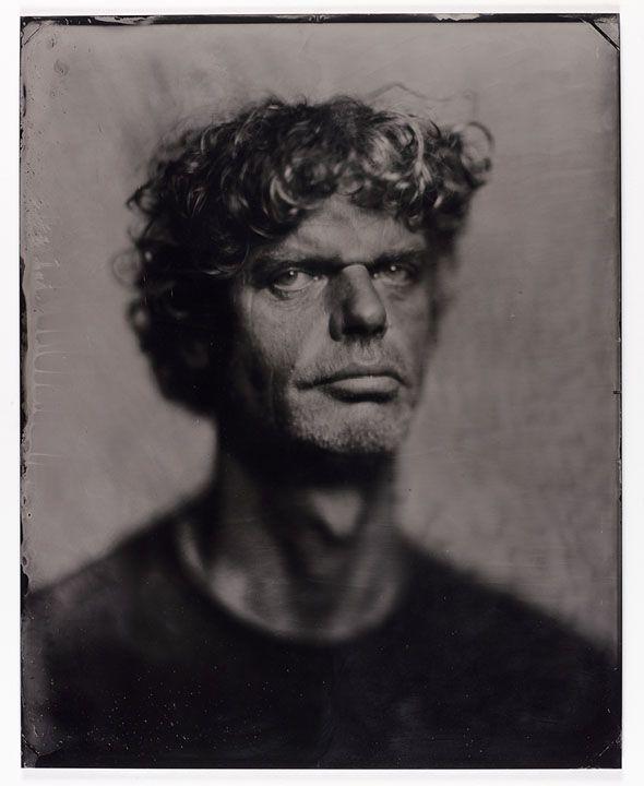 """Kadir van Lohuizen on 16""""x20"""" wet plate collodion tintype"""