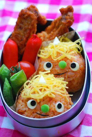 赤おにくん弁当 - てしぱんさんの簡単かわいいおべんとさん レシピブログ - 料理ブログのレシピ満載!