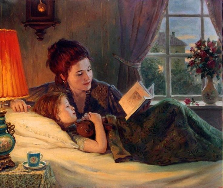 Mother reading to little Azalea, Bramble or Hollyhock before she died...