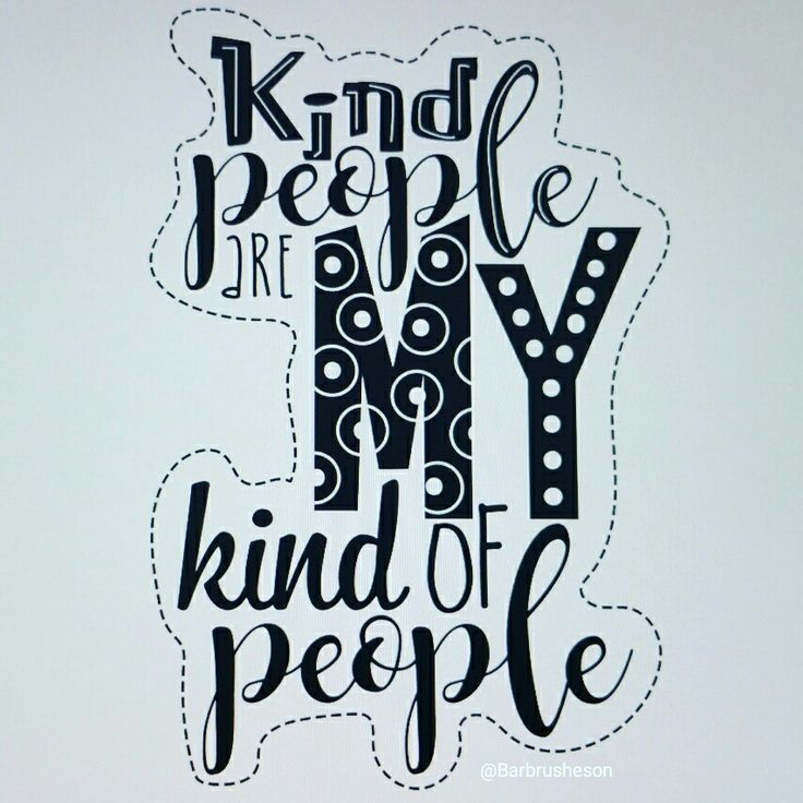 Kind people ☆ handlettering by @Barbrusheson