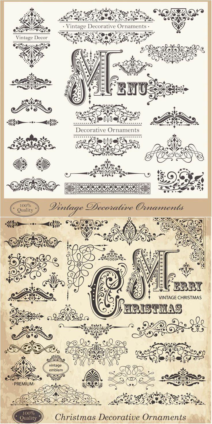 Vintage decorative Christmas ornaments vector. Free download.
