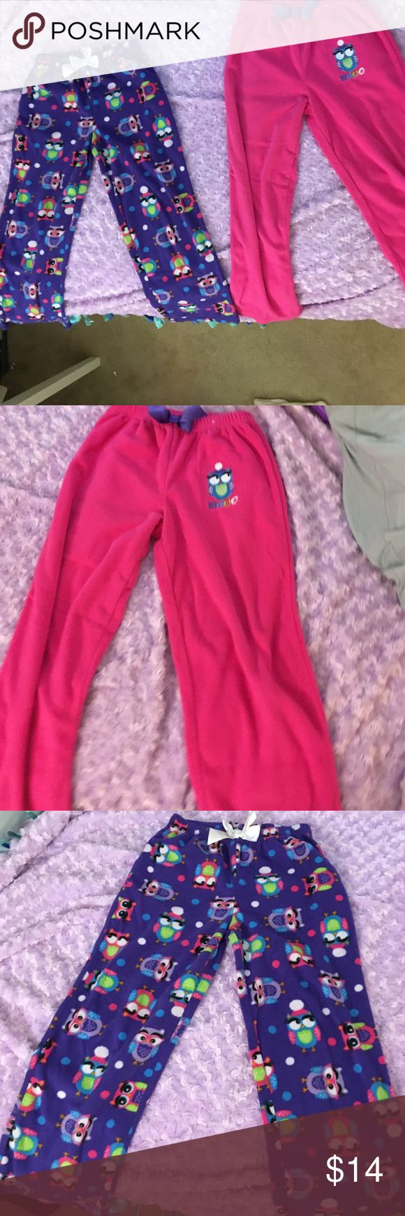 Owl Pajama Pants Set Size: 10 (kids) Adorable Owl Pajama pants from St❤️eve, perfect condition, used only a couple times, washed and ready! St❤️eve Pajamas Pajama Bottoms