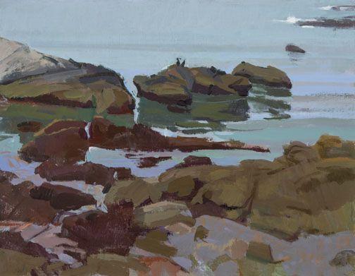 Marcia Burtt  Overcast and Quiet Water  acrylic 14×18 in.