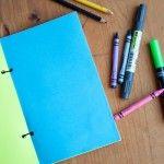 Cómo hacer una libreta con cartulina y un diseño minimalista