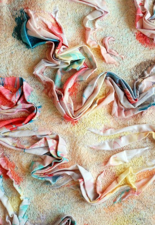 (detail of dress) Marit Fujiwara is a BA Textile Design grad from Chelsea College of Art and Design.