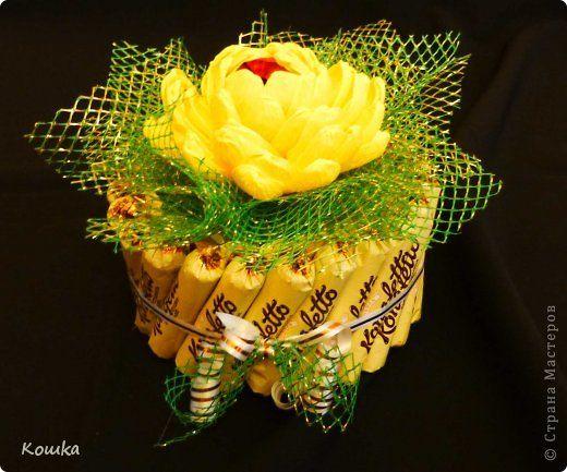 Свит-дизайн 8 марта Бумагопластика Тортики на 8 МАРТА Бумага гофрированная Продукты пищевые фото 6