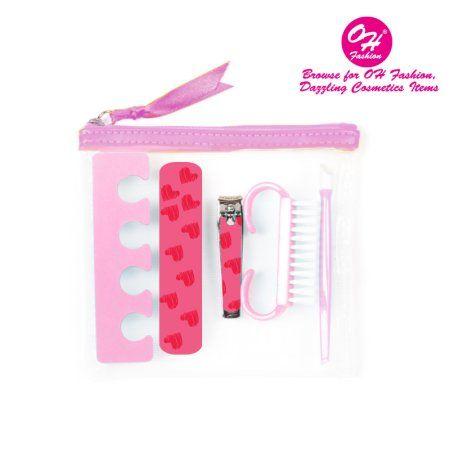 OH Manicure Set & Pedicure set pink 5 pieces nail separator cuticle pusher nail brush file nail nail clipper