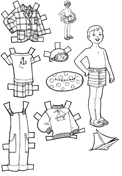 7 best boys clothes images on pinterest paper dolls for Paper doll templates cut out