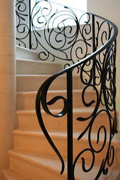 contemporary spiral staircase balustrade