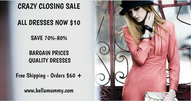 Crazy Closing Sale.  Don't Miss This!