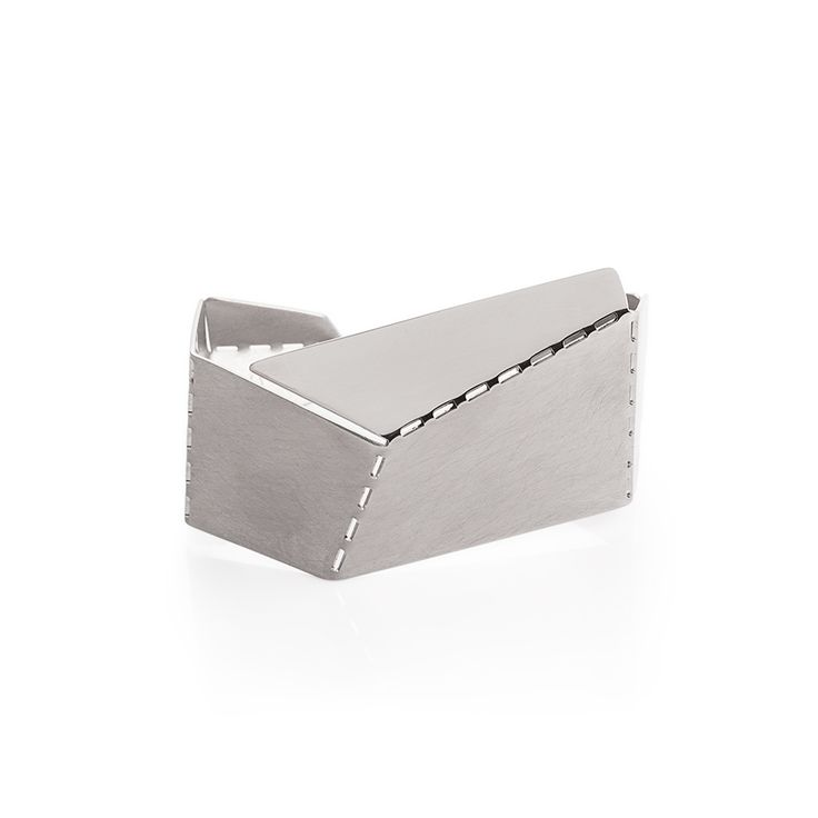 Hand crafted bracelet made of matte and partly polished stainless steel.
