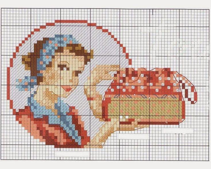 CHÁ MATE COM PINHÃO: Vintage Housewife em ponto cruz