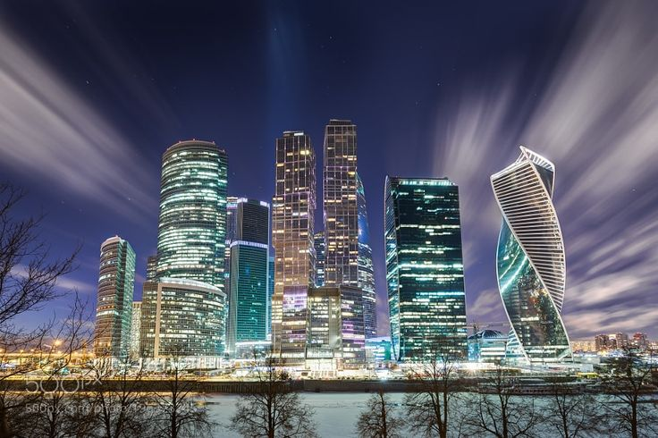 Moscow-city the evening wind by ischevchenko