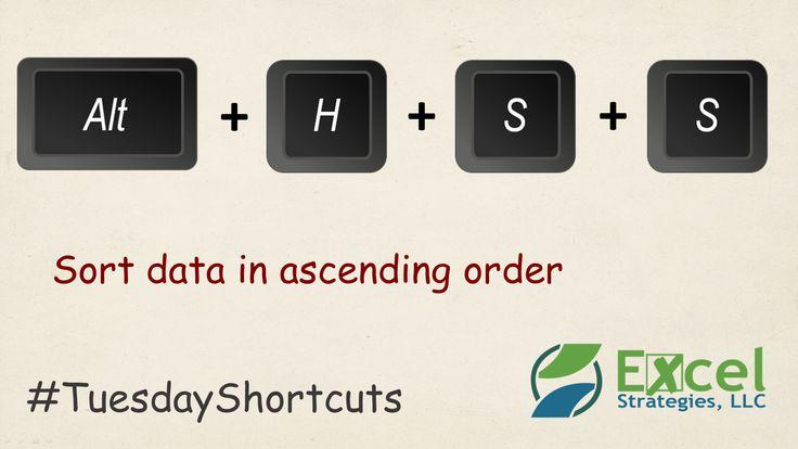 how to arrange data in ascending order in excel