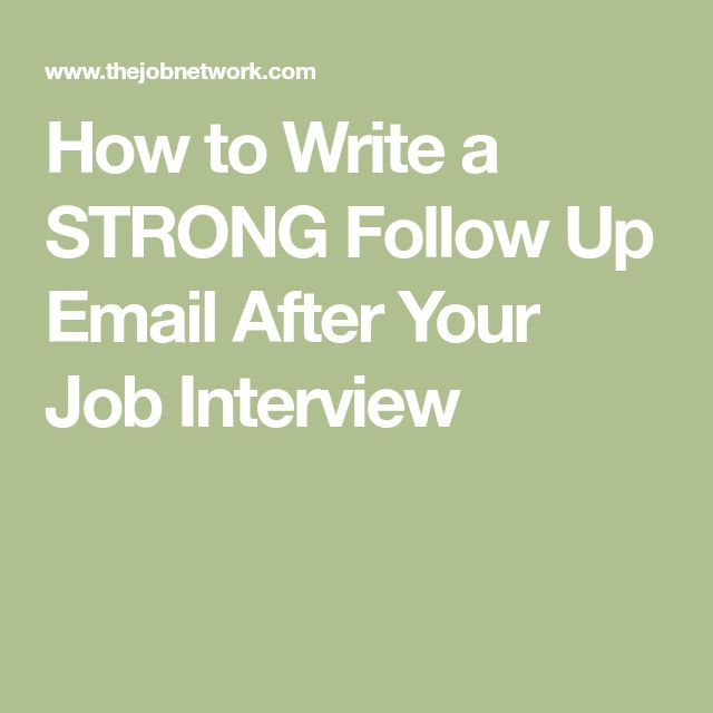 How To Follow Up After An Interview: Best 25+ Interview Follow Up Email Ideas On Pinterest
