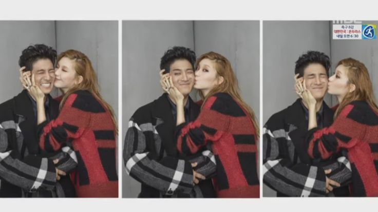 "Jota Reacts Adorably To A Kiss On The Cheek From Kim Jin Kyung On ""We Got Married"""