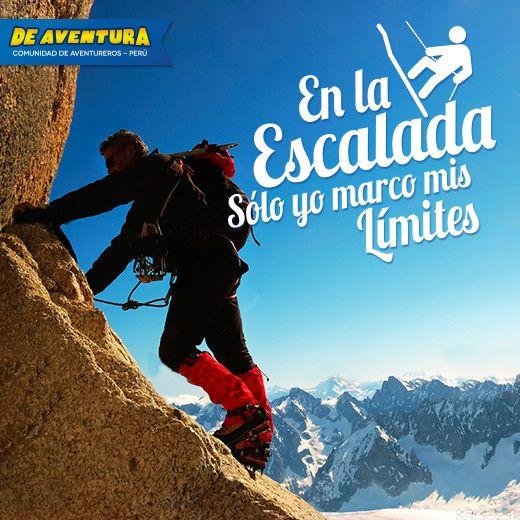 En la #escalada solo yo marco mis límites!! http://www.deaventura.pe/escalada