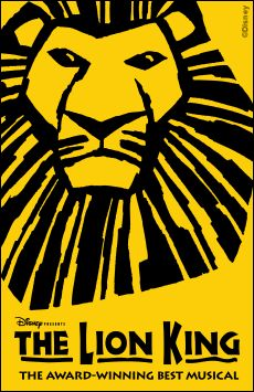 The Lion King, Minskoff Theatre, NYC Show Poster
