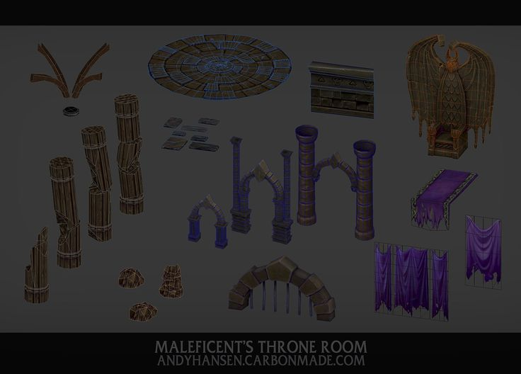 ArtStation - Maleficent's Throne Room, Andy Hansen