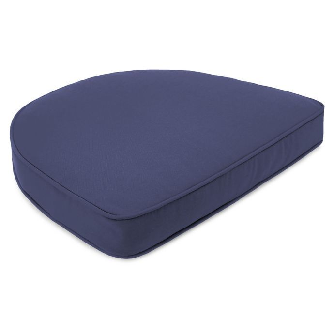 Solid 19 5 Inch Contour Boxed Edge Seat Cushion Seat Cushions