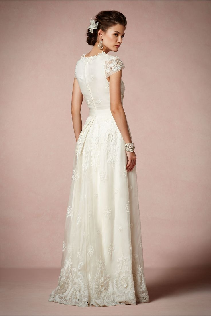 Manga corta de encaje para tu vestido de novia