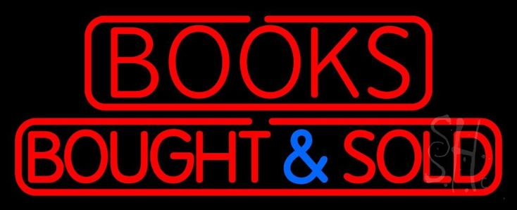 Red Books Bought And Sold Neon Sign 13 Tall x 32 Wide x 3 Deep, is 100% Handcrafted with Real Glass Tube Neon Sign. !!! Made in USA !!!  Colors on the sign are Red and Blue. Red Books Bought And Sold Neon Sign is high impact, eye catching, real glass tube neon sign. This characteristic glow can attract customers like nothing else, virtually burning your identity into the minds of potential and future customers.