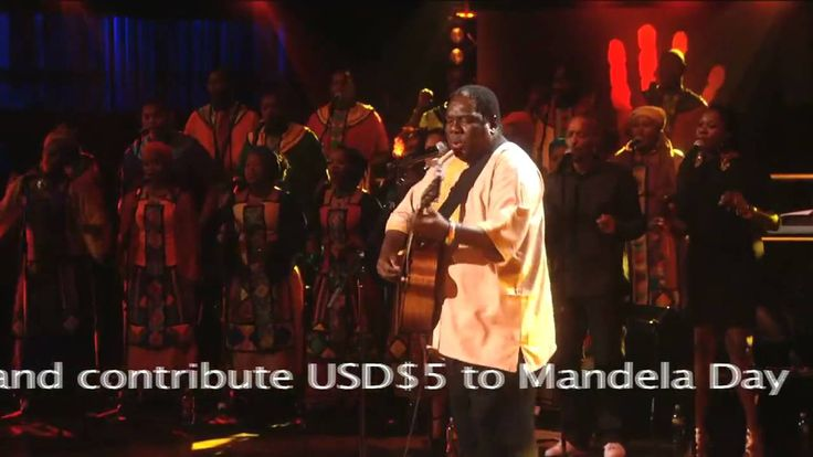 """Vusi Mahlasela performs """"When You Come Back"""" at Mandela Day 2009 from Ra..."""
