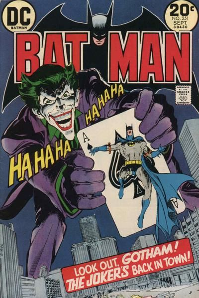 Batman #251 cover by Neal Adams - there're maybe only 2 or 3 other artists who do a more iconic Batman - this is the Batman that I grew up on