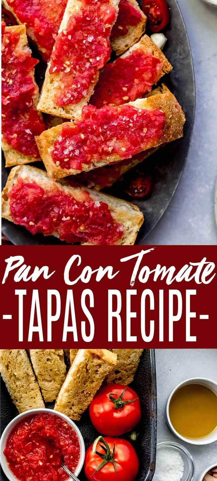 Pan Con Tomate Or Pa Amb Tomaquet In Catalan Is A Simple But Delicious Tapas Recipe Made With Only 5 Ingredients It S Like In 2020 Tapas Recipes Tapas Tomato Bread