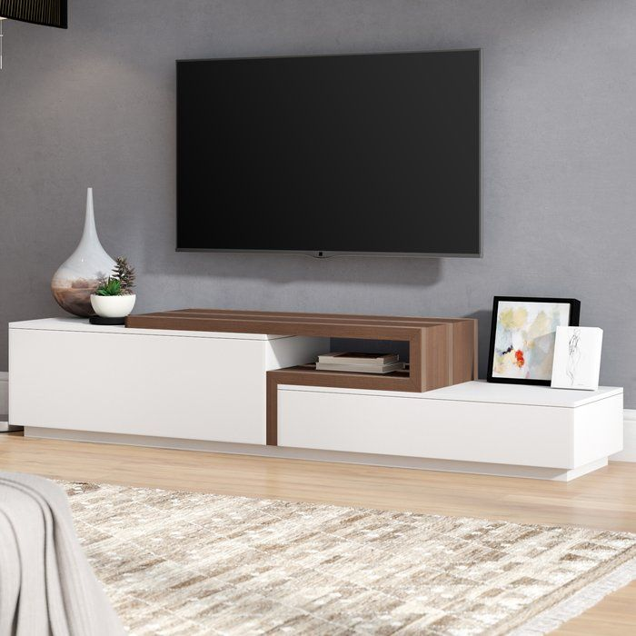 Charleroi Tv Stand For Tvs Up To 55 Living Room Tv Living Room Tv Wall Living Room Modern